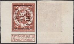 """Belgique - Timbre Pellens 1912 COB 109  Preo Non Dentelé Typo """" Gent"""" 1914 Gand TB (DD) DC2756 - 1912 Pellens"""