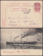 """Belgique - EP Paquebot """" A Bord Marie-Henriette """"  (DD) DC2763 - Liner Cards"""