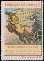 Leipzig: Leipziger Löwenjagd Reklamemarke - Erinnophilie