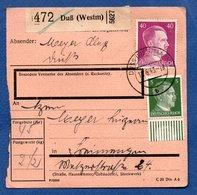 Colis Postal  -  Départ Duss  -  11/6/1943 - Allemagne