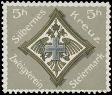 Wien: Silbernes Kreuz Reklamemarke - Cinderellas