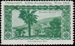 Wien: Winterkurort Und Seebad Abbazia Die österr. Riviera Reklamemarke - Vignetten (Erinnophilie)