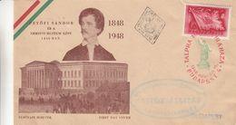Hongrie - Lettre Illustrée De 1948 - Oblit BBudapest - Exp Vers Budapest - Cartas