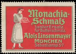 München: Monachia-Schmalz Reklamemarke - Cinderellas