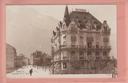 OUDE POSTKAART ZWITSERLAND  -  SCHWEIZ -     SUISSE -    BRIG - HOTEL VICTORIA - BAHNHOFSTRASSE - VS Valais