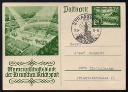 III REICH - STRASBOURG - ALSACE OCCUPEE / 1941 ENTIER POSTAL DE PROPAGANDE ILLUSTRE & OBLITERATION (ref LE3349) - Allemagne