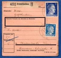 Colis Postal  -  Départ Grosstänchen  -  29/11/1943 - Briefe U. Dokumente