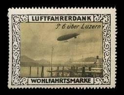 Zeppelin P. 6 über Luzern Reklamemarke - Vignetten (Erinnophilie)