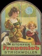 Eitorf: Wolle Zum Stricken (Katze) Reklamemarke - Cinderellas