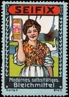 Düsseldorf: Die Hausfrau Nimmt Seifix Bleichmittel Reklamemarke - Cinderellas
