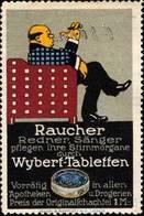 Saint-Louis/Elsaß, Basel, Hamburg: Für Raucher Wybert - Tabletten Aus Der Apotheke Reklamemarke - Vignetten (Erinnophilie)