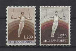 SAINT-MARIN.  YT  N° 392/393  Neuf *  1954 - Saint-Marin