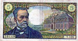 Billet De 5 Francs Pasteur Le 08-01-1970  En TTB - 1962-1997 ''Francs''