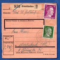 Colis Postal  -  Départ Grosstänchen  -  22/8/1943 - Storia Postale