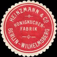 Berlin: Honigkuchen - Fabrik Heinzmann & Co. Berlin - Wilhelmsberg Siegelmarke - Cinderellas