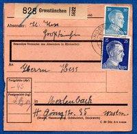 Colis Postal  -  Départ Grosstänchen  -  20/5/1943 - Storia Postale
