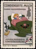 Vevey, Schweiz: Milchmädchen - Zuverlässigste Kindernahrung Reklamemarke - Vignetten (Erinnophilie)