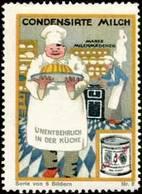 Vevey, Schweiz: Condensirte Milch Marke Milchmädchen Für Bäcker Reklamemarke - Vignetten (Erinnophilie)