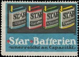 Star Batterien Reklamemarke - Erinnofilie