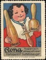 Nürnberg: Rona Baby Nuckel Reklamemarke - Erinnofilia