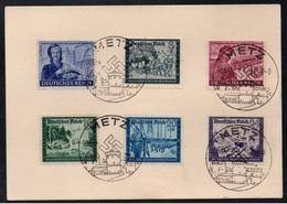 III REICH - METZ - MOSELLE OCCUPEE / 1944 SERIE COMPLETE DE PROPAGANDE SUR CARTE (ref LE3350) - Lettres & Documents