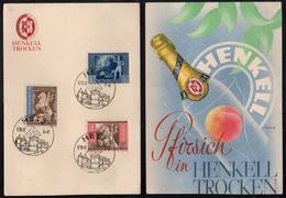 CHAMPAGNE - MOUSSEUX - HENKEL / 1942 III REICH SERIE SUR CARTE PUBLICITAIRE (ref LE3351) - Vins & Alcools