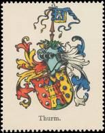 Thurm Wappen Reklamemarke - Cinderellas