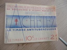 France Erinnophilie Carnet 20 TP Comité National De Défense Contre La Tuberculose  Pub Neslé BE - Antituberculeux