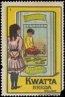Breda/Holland: Kwatta Kakao Reklamemarke - Cinderellas
