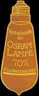 Berlin: Verkaufsstelle Der Osram Lampe Reklamemarke - Erinofilia