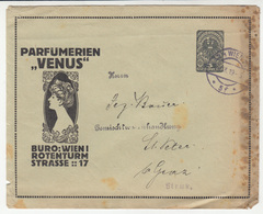 Parfümerien Venus Postal Stationery Letter Cover Travelled 1919 B190401 - Stamped Stationery