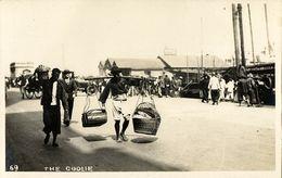 China, HONG KONG, Native Coolies, Harbour Scene (?) (1910s) RPPC Postcard - China (Hong Kong)