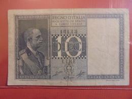 ITALIE 10 LIRE 1935-1939 CIRCULER - Italia – 10 Lire