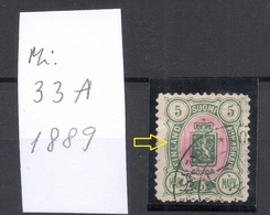 FINLAND FINNLAND 1889 Michel 33 A ERROR Variety Abart O - Neufs