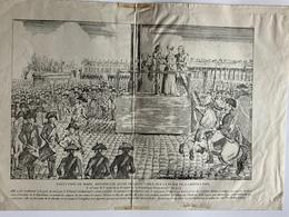 Guillotine / Exécution Marie Antoinette, Veuve De Louis Capet / Reproduction Ancienne - Vieux Papiers