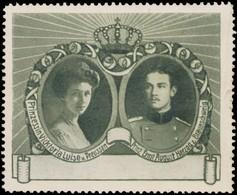 Braunschweig: Prinzessin Viktoria Luise Von Preussen & Prinz Ernst August Herzog Von Braunschweig Reklamemarke - Cinderellas