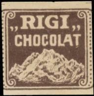Rigi Schokolade Reklamemarke - Erinofilia