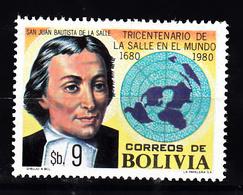 Bolivia 1980 Mi Nr  965, MHN Jean Baptiste De La Salle - Bolivië