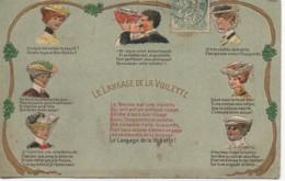 Le LANGAGE De La VIOLETTE (carte Gauffrée) - Fancy Cards