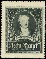 Ludwigsburg: Johann Wolfgang Von Goethe Reklamemarke - Cinderellas