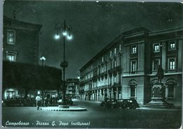 °°° Cartolina N. 86 Campobasso Piazza G. Pepe Notturno Viaggiata °°° - Campobasso
