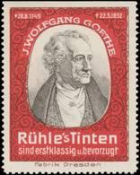 Dresden: Johann Wolfgang Von Goethe Reklamemarke - Cinderellas