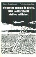 De Gauche à Droite   Non Au Nucléaire Civil Ou Militaire    , Groupe Sacco Vanzetti   AH1118 - Ereignisse