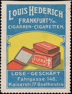 Frankfurt/Main: Zigarren & Zigaretten Reklamemarke - Erinnofilia