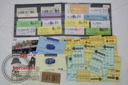 Job Lot With 41 Train & Bus Tikets From Spain And Other Countries - Ferrocarril
