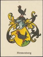 Hennenberg Wappen Reklamemarke - Vignetten (Erinnophilie)