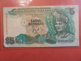 MALAYSIE 5 RINGGIT 1998 CIRCULER - Malaysie