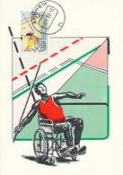 D36497 CARTE MAXIMUM CARD 1980 NETHERLANDS - SPORTS DISABLED WHEELCHAIR HANDICAP CP ORIGINAL - Handisport