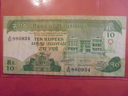 MAURICE 10 RUPEES 1985 CIRCULER - Mauritius