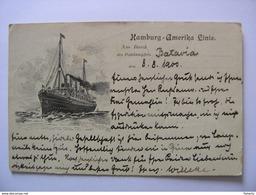 Dampfer Deutschland Hamburg Amerika Linie Marine-Schiffspost 18.08.1900 S. B. Ostas. Exped. 1. Infant-Regmt - Dampfer